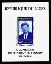 JOHN F. KENNEDY 1973 NIGER In Memory Souvenir Sheet MNH