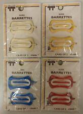 Vintage Kids Barrettes! Plastic Slide Barrettes! Multicolors! Unique old Items!
