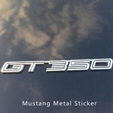 Aluminum GT 350 3D Emblem Badge Car Rear Trunk Sticker for   Shelby