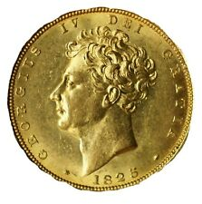 More details for almost uncirculated 1825 george iv bare head portrait gold sovereign.starts £1!
