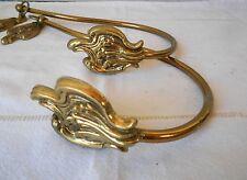 PAIR of French vintage Brass CURTAIN TIEBACKS Holdbacks
