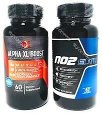 Alpha XL Boost Testosterone Support and NO2 Elite Nitric Oxide
