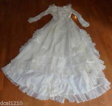 Vintage 1980s Lace Long Sleeve Wedding Dress 7/8