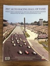 2017 Auto Racing Hall of Fame Induction Ceremony Program