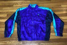 670f25a56277b3 Vintage Nike Grey Tag Aqua 8 Colorway Windbreaker Zip-Up Jacket Large