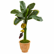 Banana Artificial Tree In Terracotta Planter Nearly Natural 3' Home Decoration