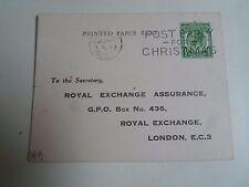 Vintage Advertising Postcard ROYAL EXCHANGE ASSURANCE Franked 1929   §D264