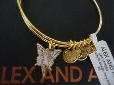 Authentic Alex and Ani FAIRY Shiny Gold Charm Bangle New W/ Tag Card & Box