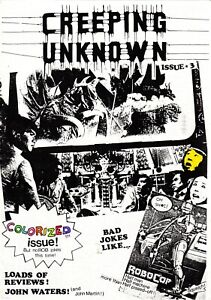 Creeping Unknown Horror Fanzine Third Issue 3 March 1988 Colorized Issue!