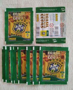 10x PANINI Brazil de Todas as Copas Packet Bustina Brazil Exclusive WC 2010