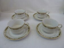 VINTAGE QUEEN ANNE SIGNATURE COLLECTION FINE CHINA SET OF 4 CUPS & SAUCERS.JAPAN