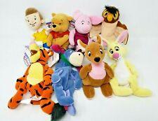 The Disney Store - Mini Bean Bag - Pooh & Friends - Lot of 8