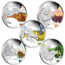 2013 Discover Australia Wildlife 5x1oz Silver Proof Five-Coin Complete Set /wOGP
