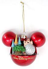 NEW Walt Disney World 4 Parks 1 World Mickey Mouse Ear Christmas Ornament