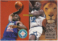 "(2) 1994-95 FLEER ALL-STARS + YOUNG LIONS: SHAQUILLE O'NEAL ""SHAQ"" INSERT LOT"