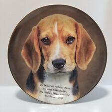 Beautiful Cherished Beagles Eyes of Love Plate Danbury Mint Beagle #I0018