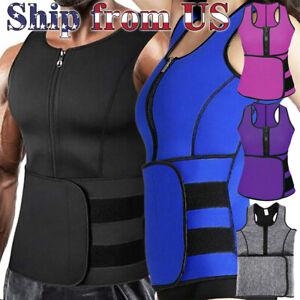 Men & Women Sauna Thermo Sweat Waist Trainer Vest Suit Body Shaper Belt Corset