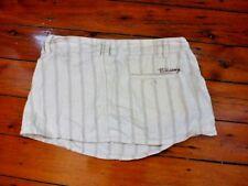 Billabong creme striped Ladies Mini Skirt Size 8
