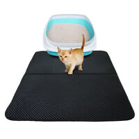 Cat litter pad Double-Layer Cat Litter Mat  Foldable Pad Pet Rug Home D/S