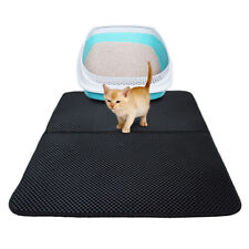 Waterproof Double-Layer Cat Litter Mat Trapper Foldable Pad Pet Rug Home JR