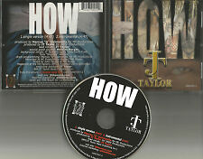 Kool and the gang JT TAYLOR w/ MELISSA MORGAN How SINGLE Vers & INSTRUMENTAL CD