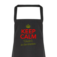 Uncle Gift Apron Funny Personalised Keepsake Cooking Present Cotton Uncle