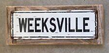 Weeksville North Carolina Elizabeth City Naval Station Vintage Metal Sign Decor
