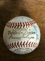 Philadelphia Phillies vintage Warren Giles team ball 1964 or 1965, excellent!!!