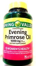 Spring Valley Women's Health Evening Primrose Oil GLA 75 Pills Softgels 1000mg