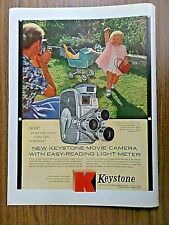 1958 Keystone Cameras Color Movies Ad with Easy-Reading Light Meter
