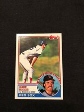 1983 Topps Wade Boggs Rookie RC #498 MINT HOF Boston Red Sox *54