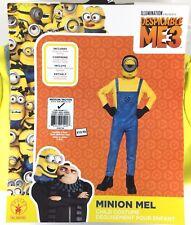 Despicable Me Minion Mel Child Halloween Costume Sz Medium 8-10 Dress Up Pretend