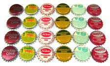 24 Vintage BOTTLE CAPS - Soda Pop Bottlecaps Unused Old Store Stock 60s - 70s