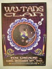 Wu-Tang Clan Poster Hanbill Wu Tang Wutang The