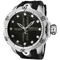Invicta Reserve Venom Black Dial Black Rubber GMT Sport Men's Watch NWT