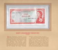 Most Treasured Banknotes East Caribbean 1 Dollar 1965 P 13h UNC prefix B93