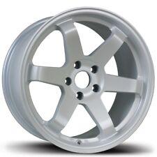 Avid1 Av06 18x95 38 5x1143 Matte White Concave Sti Is300 Civic Rsx Tsx Mazda3