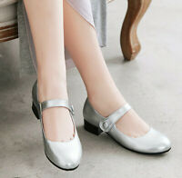 Plus Size Ballet Loafer Women's Shoes Mary Jane Girls Student Rounde Toe Flat