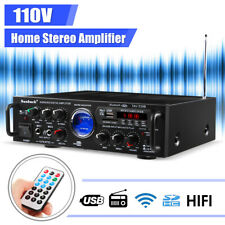 110V 500W 2Ch bluetooth Home Car Stereo Amplifier Aux Fm Radio Usb Karaoke
