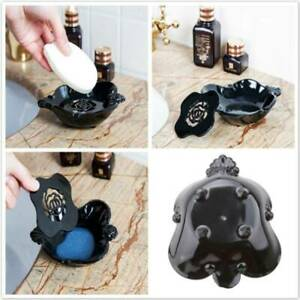 Soap Box Rose Shape Double Layer Soap Holder Tools Drain Soap Case Soap Box 8C