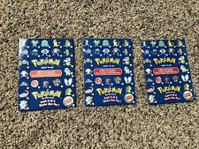 Lot of 3 Pokemon THE FIRST MOVIE CARDS 1999 BURGER KING pamplet