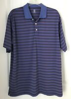 PGA Tour Pro Series Athletic Fit Purple Men's Size Large Golf Polo Shirt