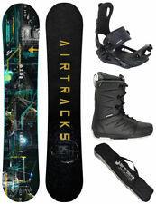 Snowboard Set AIRTRACKS Data Rocker+Fixation Master+Bottes + Sac / 150 155 160
