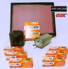 HOLDEN COMMODORE UTE  VU VY 3.8L V6 OIL AIR FUEL FILTER SERVICE KIT+SPARK PLUGS