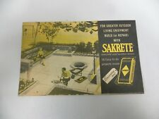 Vtg Sakrete Cement Home Yard Projects Advertising Promotional Brochure (A2)