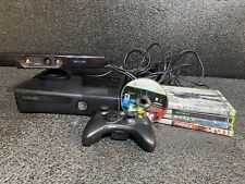 Xbox 360 S Slim 4Gb (1439) Console Kinect Bundle Controller Cables 5 Games