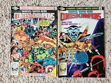 Marvel Super Hero Contest of Champions #1 and #2  1982 Bronze Age Marvel Comics