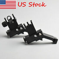 BUIS Front & Rear Flip Up 45 Degree Offset Rapid Transition Backup Iron SIght US