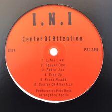 """INI """"CENTER OF ATTENTION"""" LP + PETE ROCK """"SOUL SURVIVOR"""" RARE PROMO (1998, Q-TIP"""