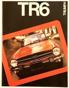 Mint Original! 1975 Triumph TR6  Sales Brochure -  8 Pages!